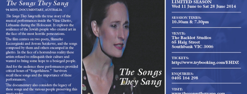 The Songs They Sang documentary and music soundtrack