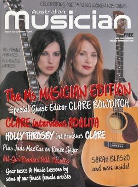 Australian Musician magazine Summer 2007
